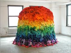 Sculpture from discarded clothing by Guerra de la Paz (Alain Guerra and Neraldo de la Paz)
