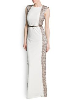 MANGO - CLOTHING - NEW COLLECTION - Dresses - Panels lace gown
