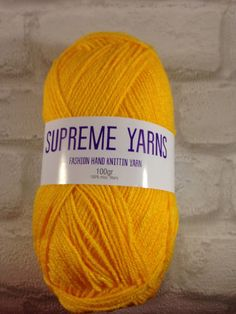 Supreme Yarns bright yellow colour 100 gram by Bitsandbobstopia Cheap Yarn, Bright Yellow, Yarns, Supreme, Knitted Hats, Colour, Knitting, Trending Outfits, Unique Jewelry