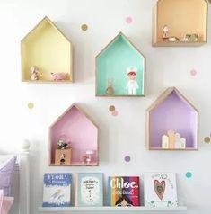 Baby Nursery Shelving at Georgie Scott Kids Room Shelves, House Shelves, Nursery Shelving, Playroom Flooring, Playroom Decor, Playroom Ideas, Playroom Design, Wall Decor, Pastel Girls Room