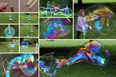 S'amuser avec des bulles de savon