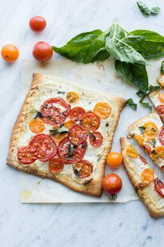 ... tomato flatbread with lemon herb ricotta (vegetarian) | superman cooks