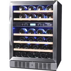 Features:  -Front venting for built-in use.  -Dual zone wine storage.  -46 Bottle capacity with 5 wood drawers.  -Radiant cooling ensures even temperatures.  -Locking door keeps wine safe.  -Digital t