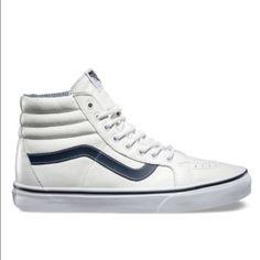 vans white leather authentic vans skate high size 9 Vans Shoes