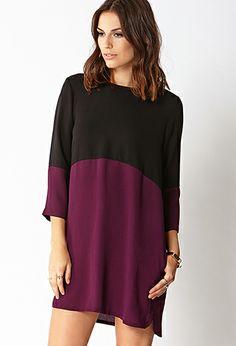 Sleek Colorblocked Shift Dress | FOREVER21 - 2000128083