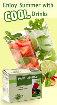 Enjoy the natural goodness of Vedantika Panchamrita and Lemon Ginger drinks this summer