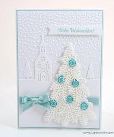 Tannen-Weihnachtskarte mit Stampin' Up!