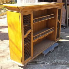 Hutch Top Repurposed Into Dining Room Storage Buffet