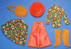 OMG!!! wish they made this outfit life size!!! Vintage Barbie Gaucho Gear, Vintage Barbie Doll Clothes