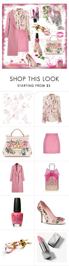 """Pink Outfit"" by belladonnasjoy ❤ liked on Polyvore featuring Dolce&Gabbana, Juicy Couture, OPI, Burberry, Avon, contest, Pink, contestentry and fashionset"