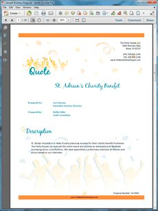 event party planner services proposal create your own custom proposal using the full version of