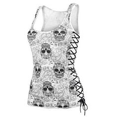 Punk Rock Skull Tank Top