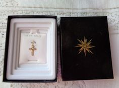 14 K GOLD CRUCIFIX CROSS CHARM NEW IN BOX