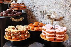 Sabrina & William's DIY and donuts loft wedding
