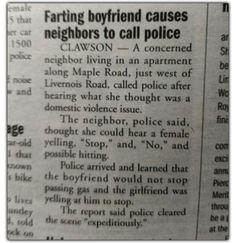 Police Blotter: Bathroom Humor Edition