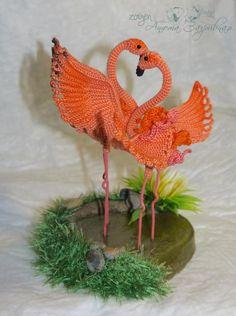 Flamingo sulla descrizione di Tamara (Ktoma) - I miei giocattoli - Gallery - ammiratori amigurumi (giocattoli maglia)