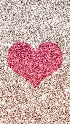 Pretty pink glitter heart - #corazones #purpurina #brillante #rosado #plateado #bonito #fondos #backgrounds #wallpapers