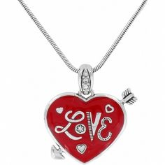 Heart Love Heart Love Necklace Necklaces This quintessential heart reminiscent of a vintage Valentine is accented with fine Swarovski crystals and an iconic Cu…