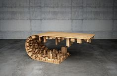 Space Age 3D Furniture: Skyscrapers & Rockets Support Stellar Tables | Urbanist