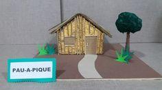 Maquete casa de pau-a-pique