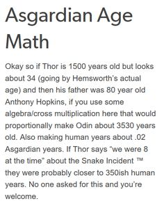 I was wondering about that because Thor was born around 500-600 AD and Loki was born like 900 AD