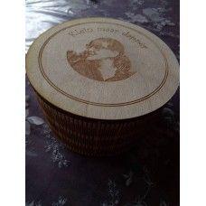 houten opbergdoosje met Living edge te koop bij www.jazer.be met eigen gravure