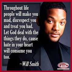 Hate in your heart will consume you