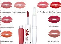 lipstick collection for a fashionable & beautiful look. We are just trying to gather the best lipstick that last longer. Maybelline 24 Hour Lipstick, Lipsticks, Beauty Advice, Natural Beauty Tips, Love Makeup, Beauty Makeup, Coral Lipstick, Lipstick Collection, Long Lasting Lipstick