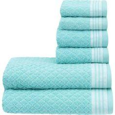 Mainstays Texture Reverse 6-Piece Towel Set