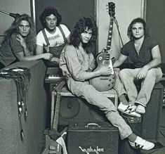 Van Halen.  Note the Ibanez Destroyer pre-modification (or at least pre-stripes).