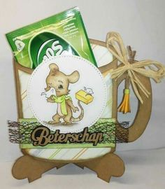 Dutch Doobadoo card art House Mouse, Get Well, Cocoa, Tea Cups, Christmas Cards, Lunch Box, Presents, Teddy Bear, Shapes