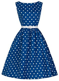 Lindy Bop Classy Vintage Audrey Hepburn Style 1950's Rockabilly Swing Evening Dress (S, Blue) Lindy Bop http://smile.amazon.com/dp/B00DEK092C/ref=cm_sw_r_pi_dp_v0t6vb1TCSD92
