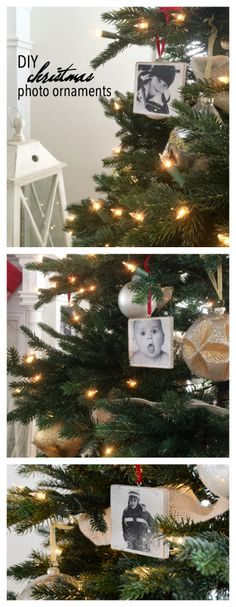 Christmas | Use this step by step tutorial to make some DIY Photo Ornaments for your Christmas Tree. Great christmas gifts and Christmas Decor.