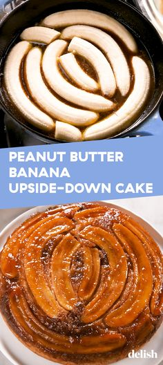 Butter Banana Upside-Down Cake FLIPPING out over this Peanut Butter Banana Upside-Down Cake. Get the recipe at .FLIPPING out over this Peanut Butter Banana Upside-Down Cake. Get the recipe at . Gourmet Recipes, Cake Recipes, Cooking Recipes, Vegan Recipes, Banana Upside Down Cake, Upside Down Cakes, Upside Down Desserts, Peanut Butter Recipes, Peanut Butter Cakes