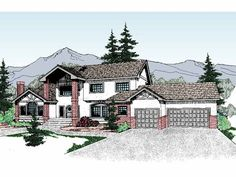 Eplans Contemporary-Modern House Plan - Six Bedroom Contemporary - 3520 Square Feet and 6 Bedrooms from Eplans - House Plan Code HWEPL56951