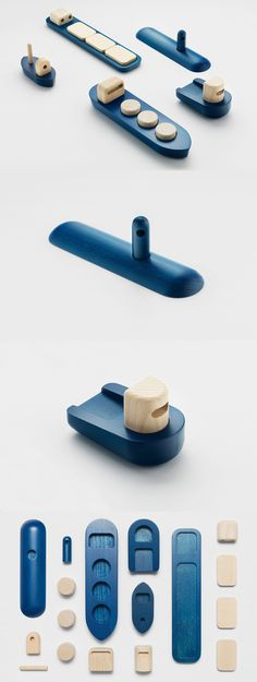'Shipping': wooden toy set by Permafrost, originally presented during the London Design Festival in 2013 #woodentoys Wood Projects, Woodworking Projects, Woodworking Toys, Diy Holz, Kids Wood, Montessori Toys, Designer Toys, Wood Toys, Educational Toys