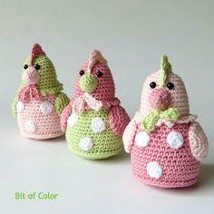 Bit of Color Easter Crochet Patterns, Crochet Owls, Amigurumi Patterns, Amigurumi Doll, Crochet Animals, Crochet Baby, Free Crochet, Knitting Patterns, Knit Crochet