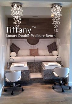 Purjet luxury pedicure bench collection with pipeless technology for today's nail spas & salons