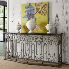 Black Stone Top Console Table Western Sofa Tables   The Perfect Accent  Piece To Dress Up