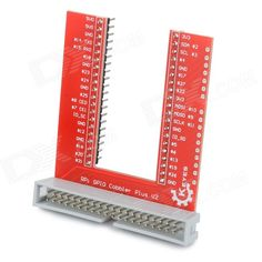 KEYES SMP0047 U-Shaped GPIO Breadboard Expansion Board for Raspberry Pi B+ - Red. Professional accessory for Raspberry Pi B+; Very suitable for breadboard experiment.. Tags: #Electrical #Tools #Arduino #SCM #Supplies #Raspberry #Pi