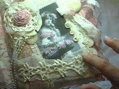 Hi every one I wanted to share with you my newest fabric journal that I created. Filled with vintage lace, trims and doilies. Fabric Books, Fabric Journals, Fabric Art, Lace Fabric, Art Journals, Shabby Chic Fabric, Shabby Chic Crafts, Victorian Crafts, Vintage Crafts