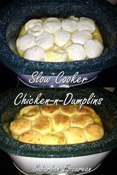 Slow cooker Chicken and Dumplings- the perfect end to a day spent in the crisp autumn air! Slow cooker Chicken and Dumplings- the perfect end to a day spent in the crisp autumn air! Slow Cooker Huhn, Crock Pot Slow Cooker, Slow Cooker Recipes, Cooking Recipes, Easy Recipes, Slow Cooker Desserts, Crock Pot Food, Crockpot Dishes, Crock Pots