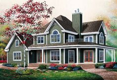 House Plan 65237 | Country   Traditional    Plan with 2687 Sq. Ft., 3 Bedrooms, 3 Bathrooms, 2 Car Garage