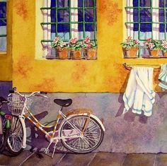 """""""A Morning Walk in Florence"""" III by WatercolorByMuren on etsy"""