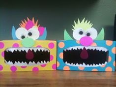 MONSTER PARTY I helped my friend put together a monster party for her son who was turning This is pin-the-eye on the monster. Valentine Box Unicorn, Pokemon Valentines Box, Unique Valentine Box Ideas, Valentine Boxes For School, Valentine Crafts For Kids, Valentines For Boys, Minecraft Party, Monster Party, Monster Box