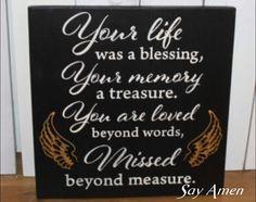 Missed beyond measure 👼 Funeral Memorial, Memorial Gifts, Memorial Ideas, Memorial Cards, In Memory Of Dad, In Loving Memory, Funeral Poems, Funeral Planning, Memories Quotes