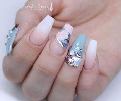 Babyboomer and floral nails shop crystal shaped flatbacks Rose Nails, Gel Nails, Acrylic Nails, Coffin Nails, Fabulous Nails, Gorgeous Nails, Pretty Nails, Dark Pink Nails, Nails Design With Rhinestones