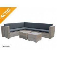 Loungeset Zandvoort 250Rx300Cm Incl Antraciet Sunwave Kussens - € 995