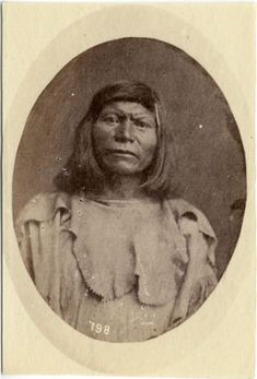 "Dakota native american named ""Bloody Mouth"" (Wi-cha-i-we). Photographed by W.H. Jackson in 1877"