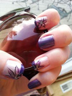 Purple Flowers by Kayla W.